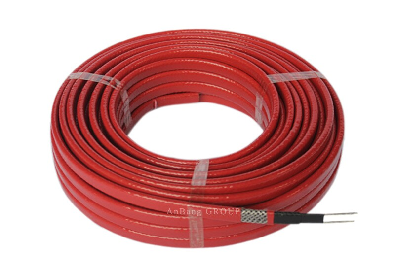 Medium temperature self-regulating heating cable red