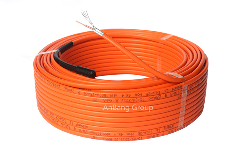 Underfloor heating cable single conductor 18.5w/m orang